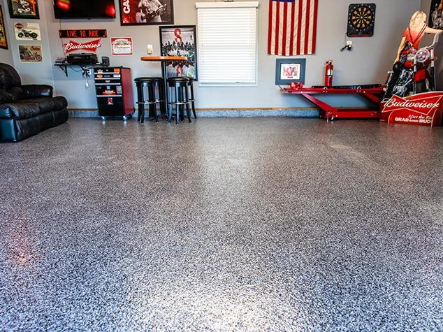 Old Epoxy Garage Floor Transformed in Plattsmouth, NE - After Photo