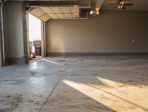 Garage Floor Coating Service in Papillion, Nebraska - Before Photo
