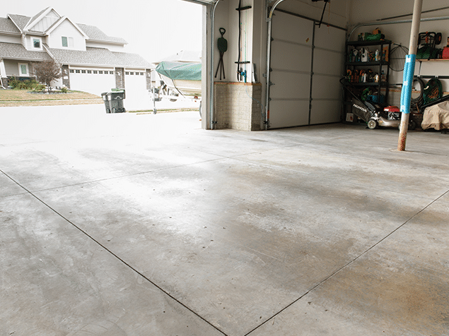 New Garage Floor Coating Service in Papillion, NE - Before Photo