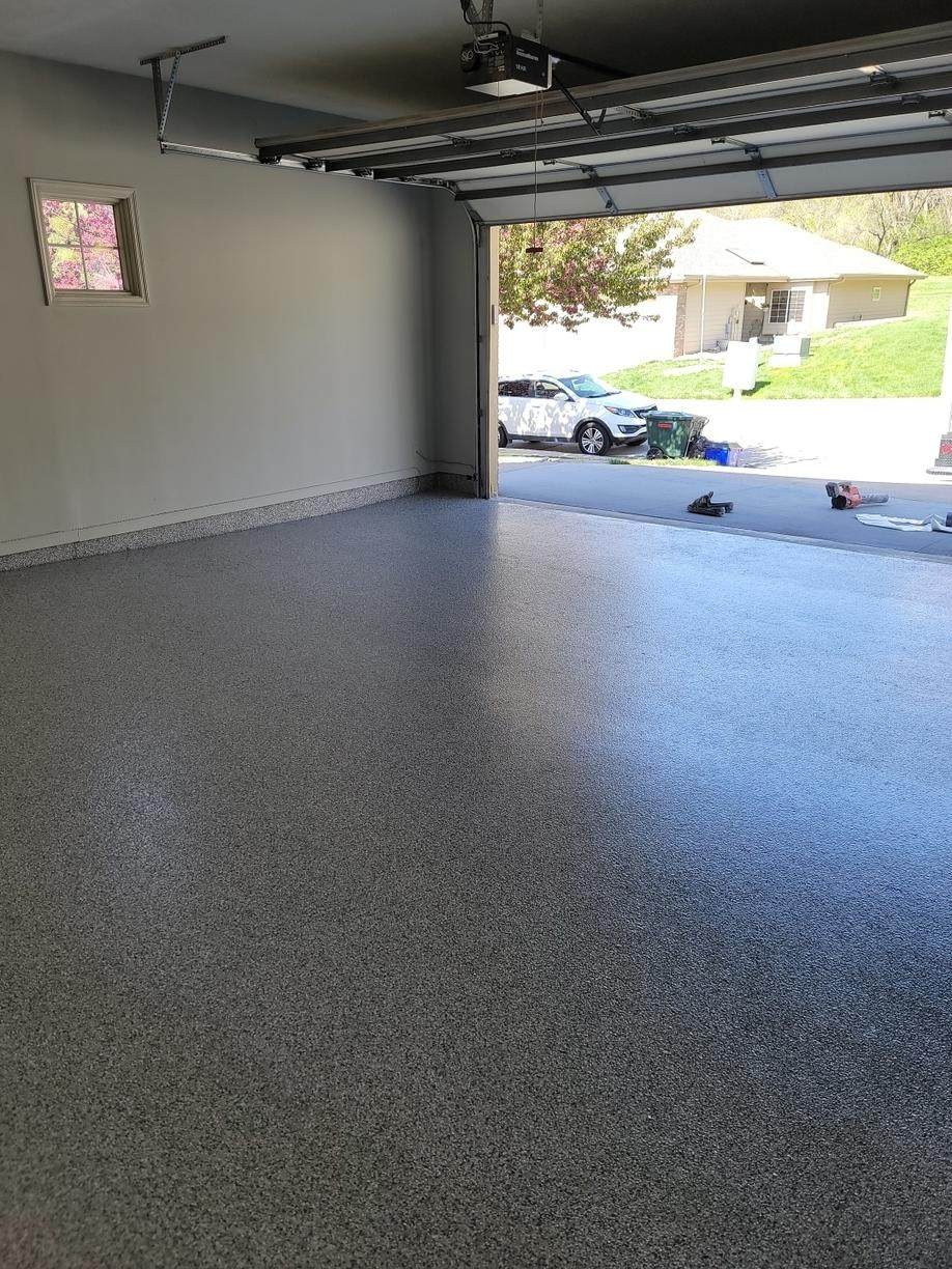 Garage Floor Coating Service in Council Bluffs, IA - After Photo