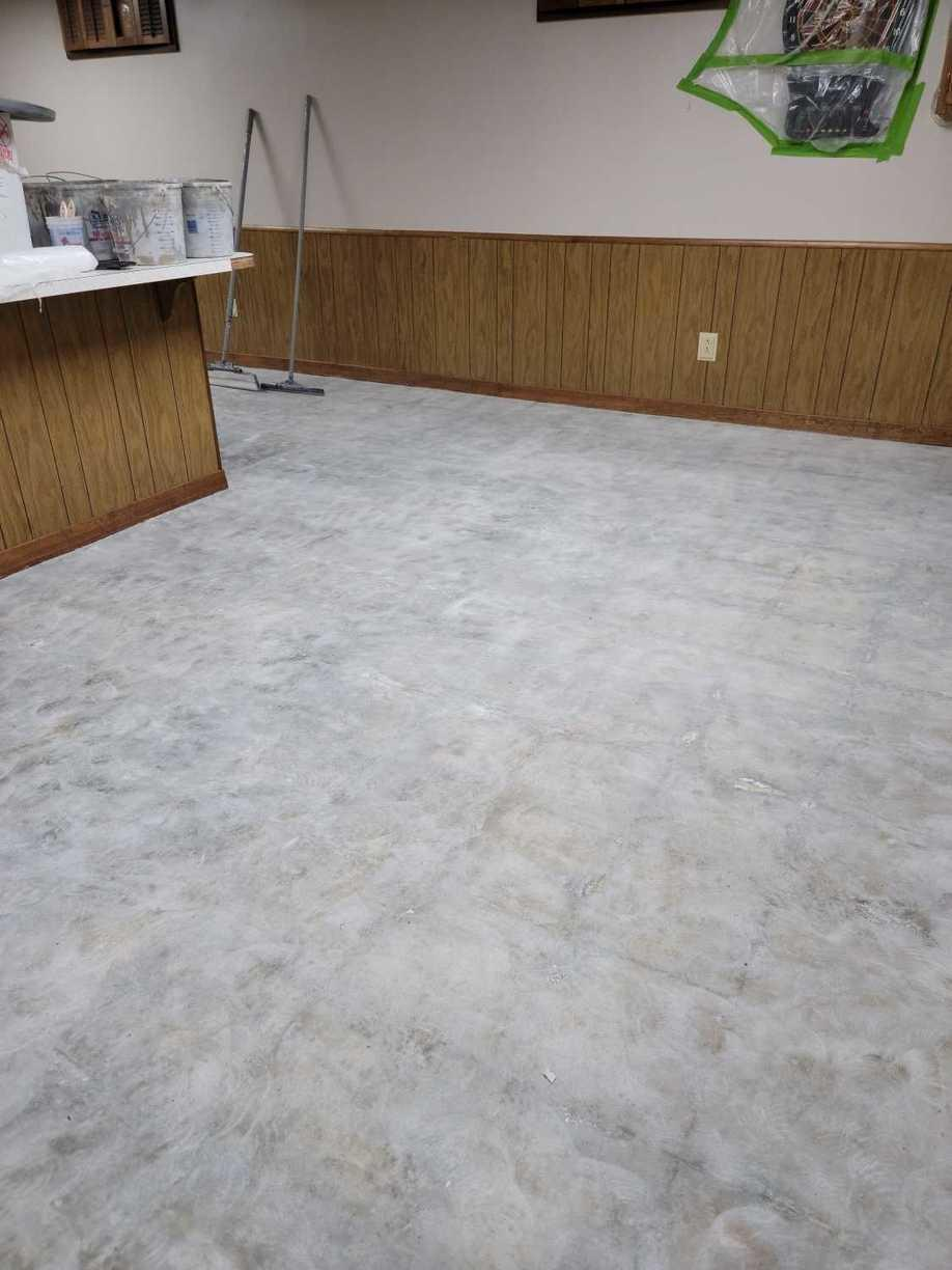 Garage Floor Coating Service in Council Bluffs, IA - Before Photo