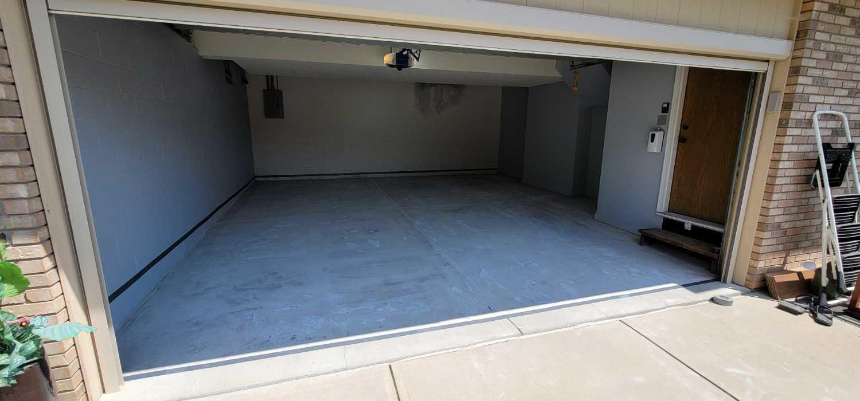 Garage Floor Coating Service in Bellevue, NE - Before Photo