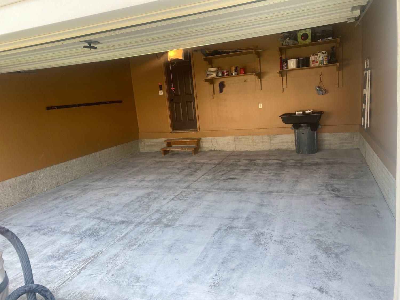Garage Floor Coating Service in Bennington, NE - Before Photo