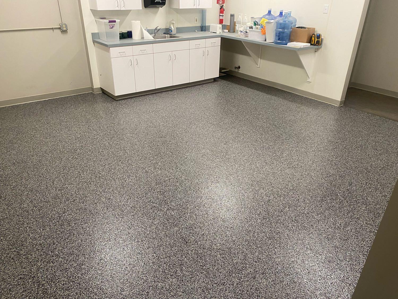 Kitchen Floor Coating Install in Omaha, NE - After Photo