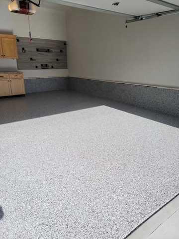 Garage Floor Coating and Slatwall in Omaha, NE - After Photo