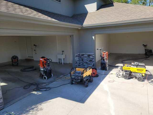 Garage Floor Coating Service and Garage Storage Install in Elkhorn, NE