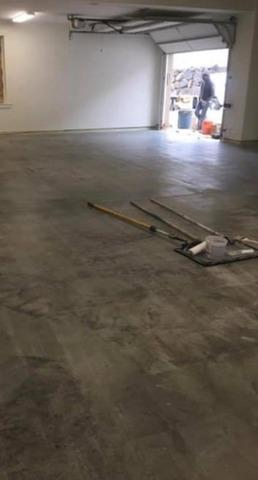 Epoxy Garage Floor in WA - Before Photo