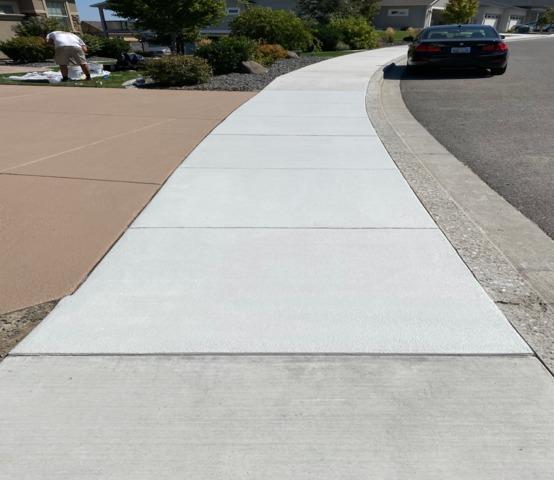 Classic Texture Sidewalk In Kennewick, WA