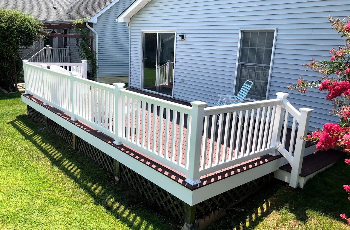 DECK FACELIFT IN ANNAPOLIS MD change treated wood to maintenance-free materials - After Photo