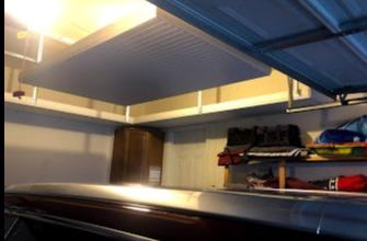 FLOATING SHELVES IN GARAGE FOR EXTRA STORAGE IN SEVERN MD 21144 - After Photo