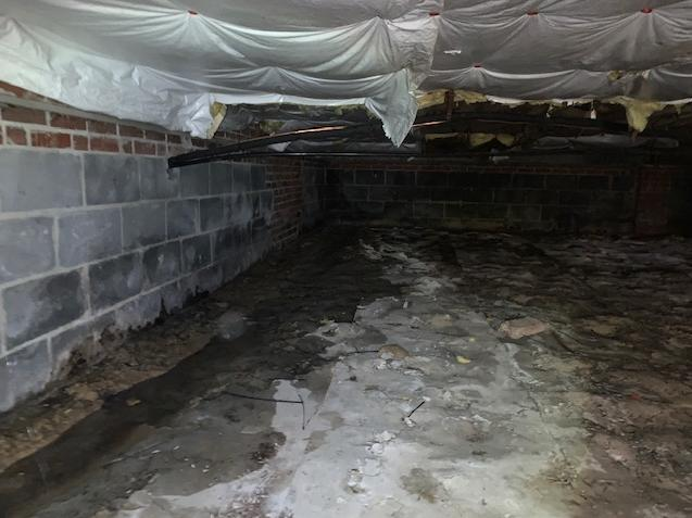 Crawl Space Goes From Nasty to Nice - Before Photo