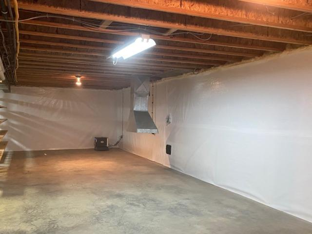 Dehumidifying a Basement in Bluemont, VA - After Photo