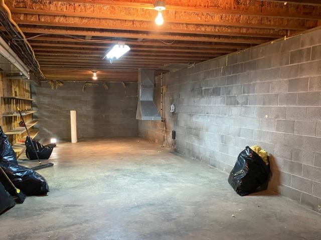 Dehumidifying a Basement in Bluemont, VA - Before Photo