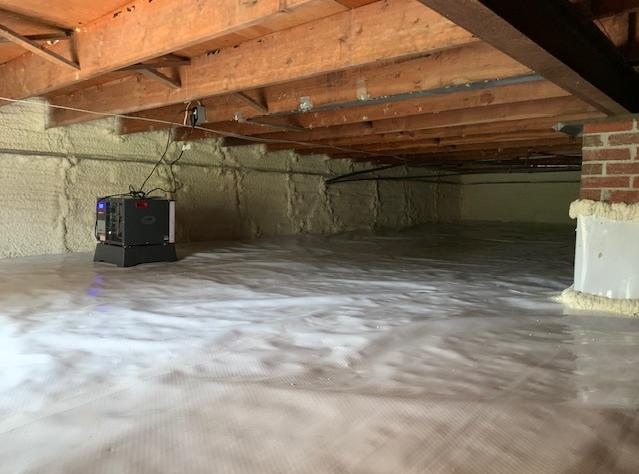 Crawl Space Goes From Nasty to Nice - After Photo