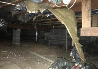 Dirty Crawl Space Becomes a 'Clean Space'