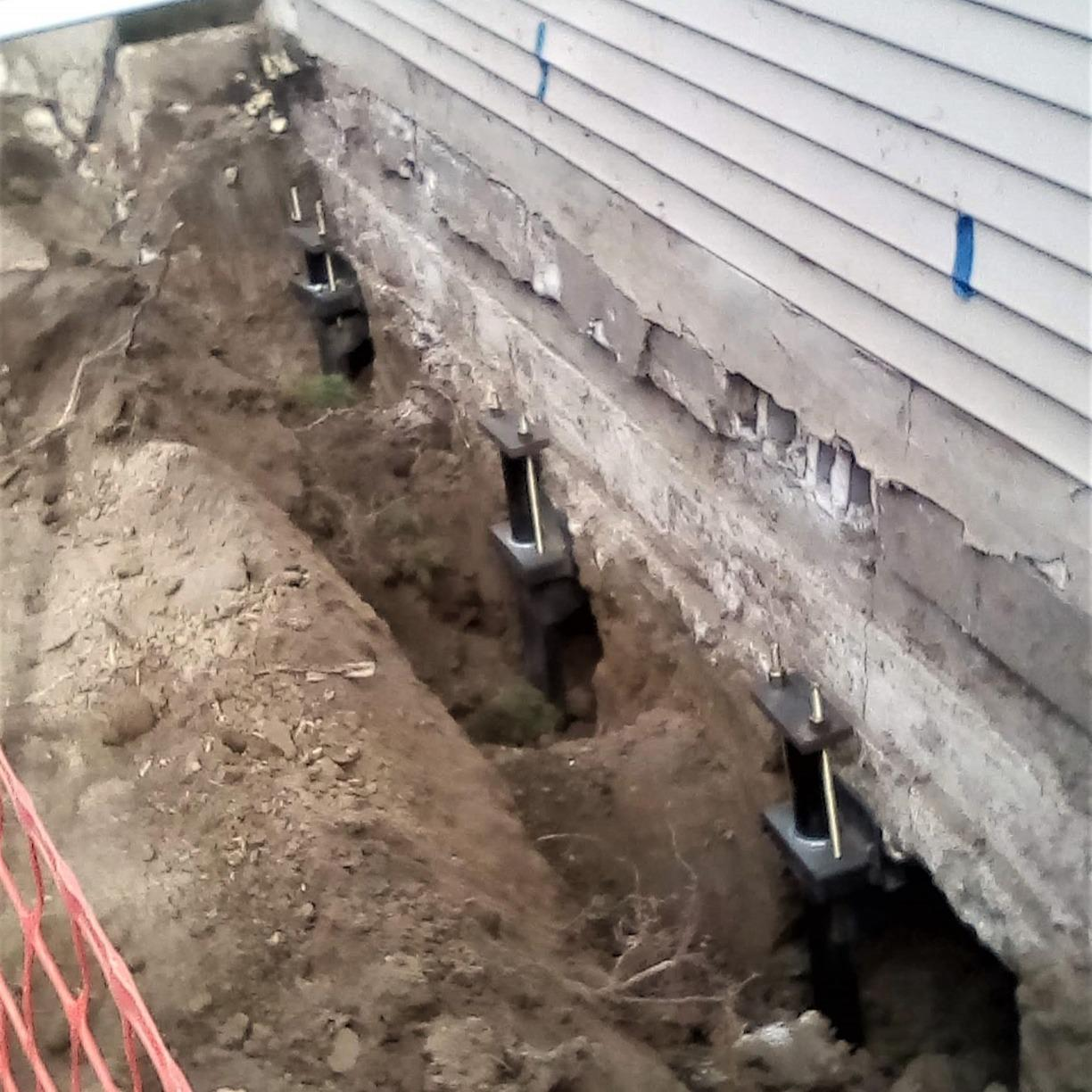 Foundation Stabilized in St. Clair Shores, MI - Before Photo