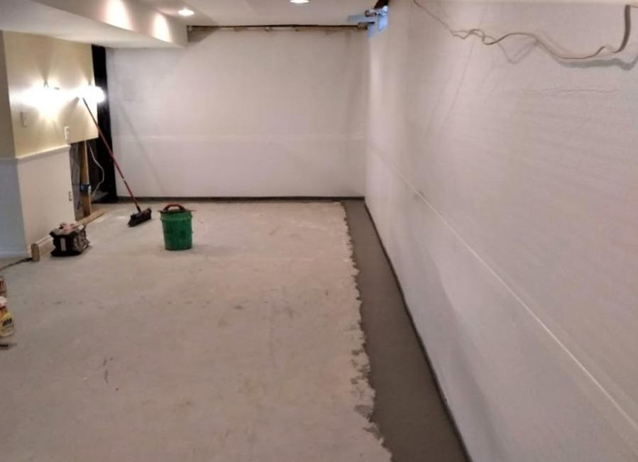 Finished Basement Waterproofed in West Bloomfield, MI - After Photo