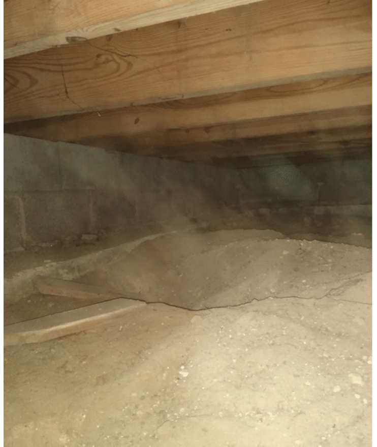 Crawl Space Encapsulation in Harper Woods, MI - Before Photo