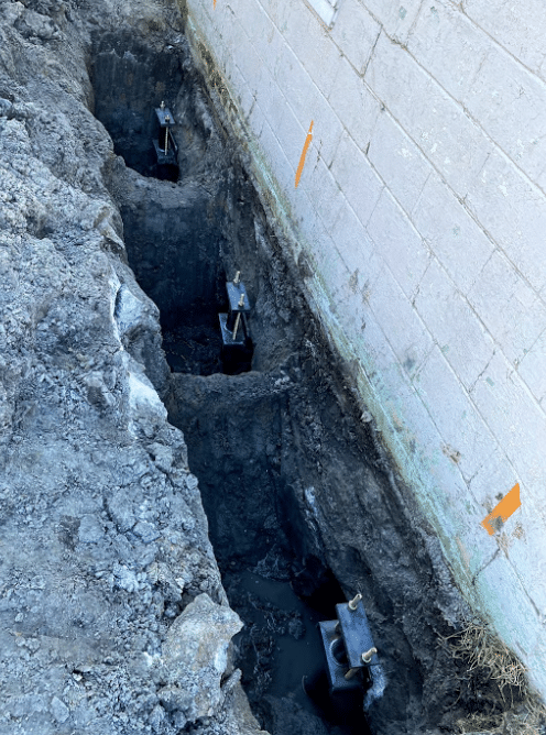 Helical Piers Solve Sinking Foundation Problem in Harsens Island, MI - Before Photo