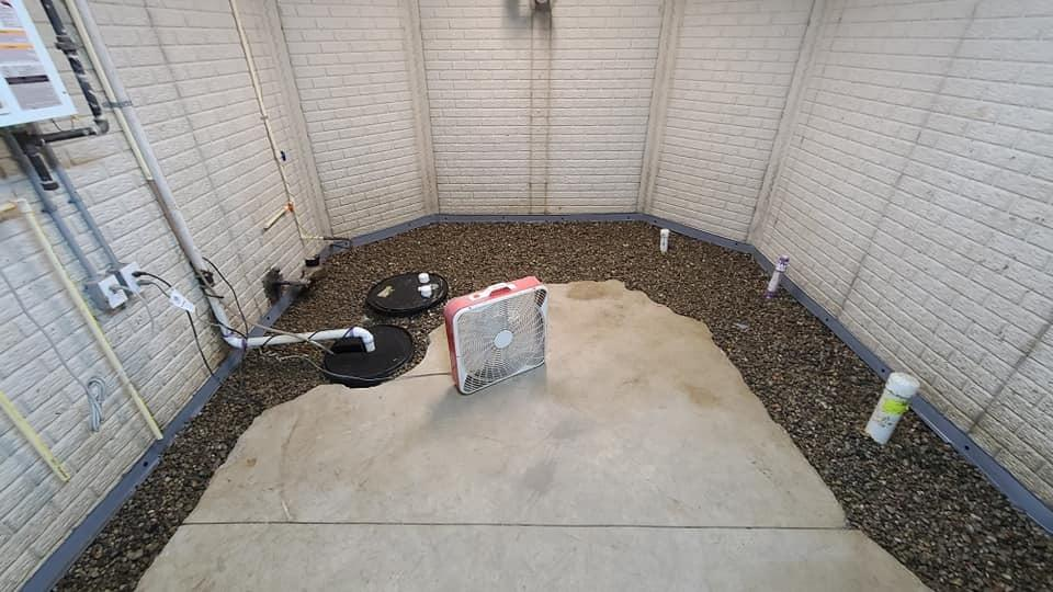 Sump Pump & French Drain Work to Waterproof East China, MI Basement - Before Photo