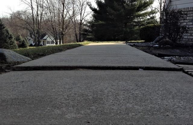 Concrete Walkway Leveled in Fenton, MI