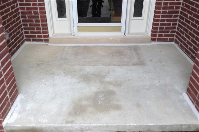 Sinking Concrete Porch PolyLeveled in Hartland, MI