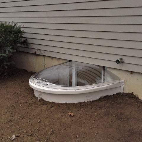 Egress Window & Window Well Installed in Flushing, MI