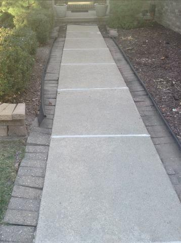 Concrete Walkway PolyLeveled To Sell Home in Goodrich, MI