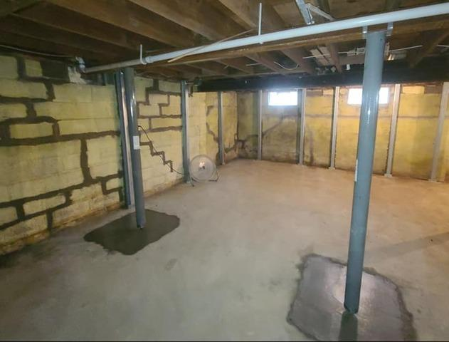 Bowing & Cracked Basement Walls Repaired in Millington, MI