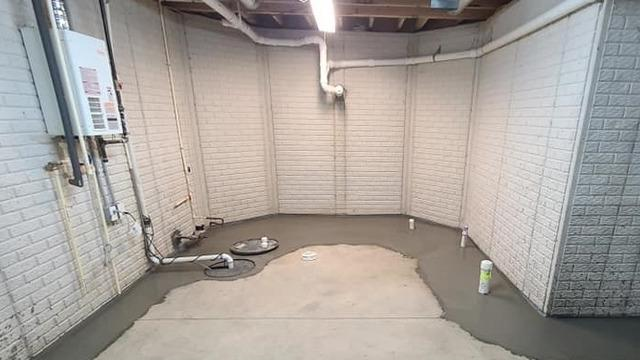 Sump Pump & French Drain Work to Waterproof East China, MI Basement - After Photo