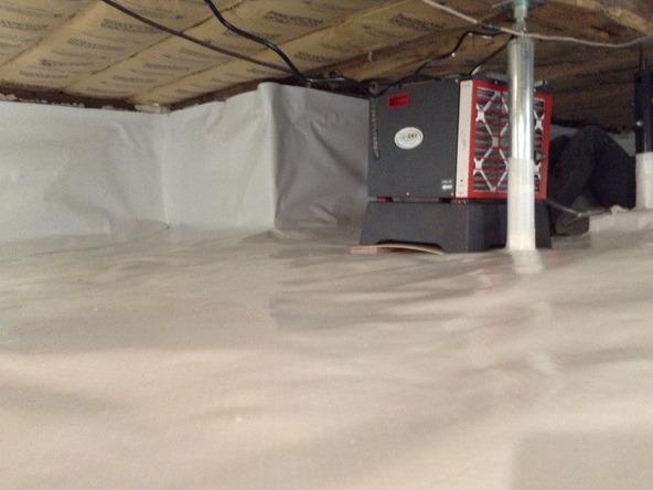 Fieldstone Foundation Crawl Space Encapsulated in Maybee, MI