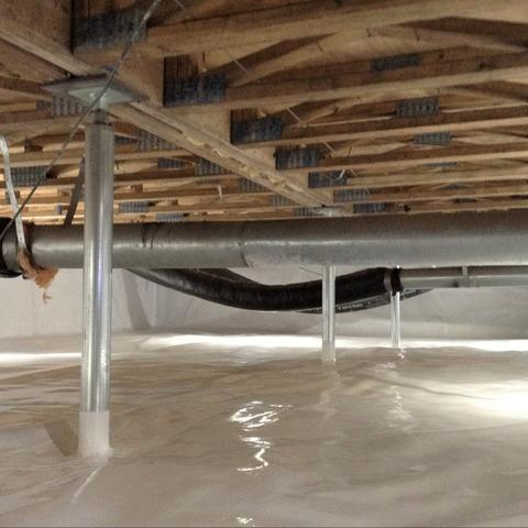 Rotting Crawl Space Support Posts Cause Sagging Floors in Marine City, MI - After Photo