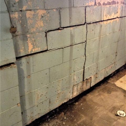 Bowing, Shearing, Cracked Basement Wall in Marlette, MI Repaired Permanently