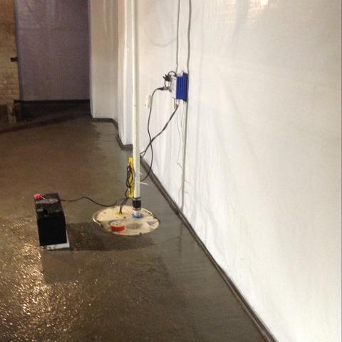 Flooded Commercial Building Basement Waterproofed in Detroit, MI