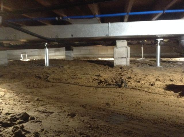 Petersburg, MI Crawl Space Encapsulated and Floors Leveled