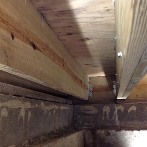 Moisture Causes Moldy, Rotting Crawl Space Support in Ann Arbor, MI