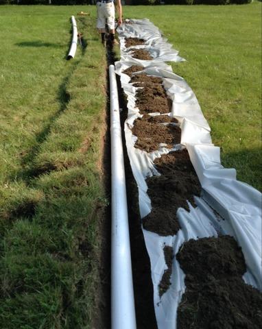 Water Discharge Line Buried & Extended in Willis, MI