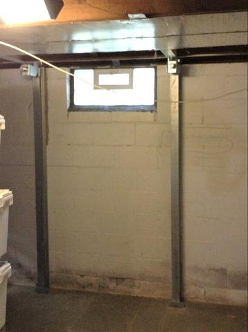 Bowing Basement Walls in Grosse Ile, MI Repaired & Waterproofed - After Photo