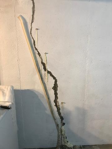 Basement Wall Leaking Crack Repair in Westland, MI