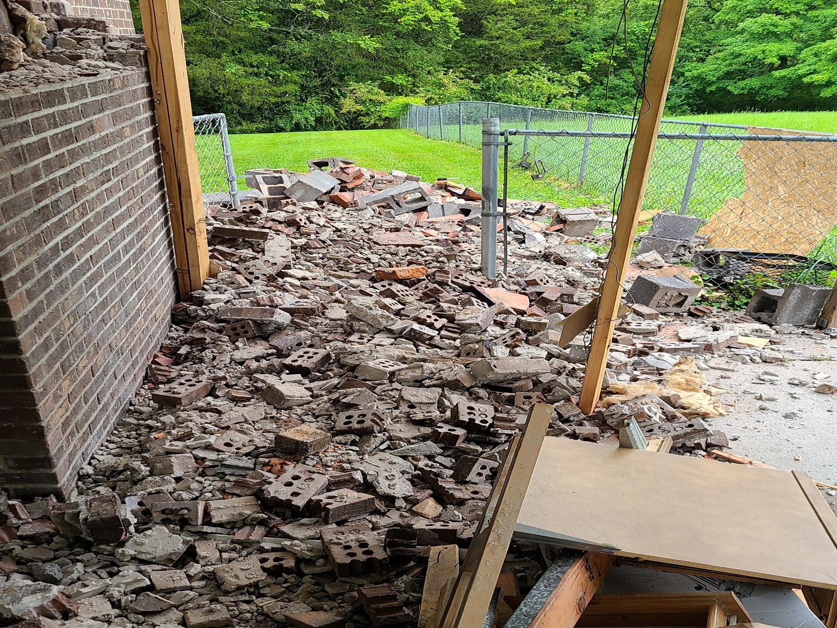 Removing Mounds of Bricks in Knoxville, TN - Before Photo