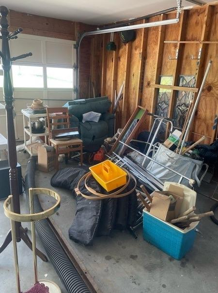 Clearing Out a Garage Near Talbott, TN - Before Photo