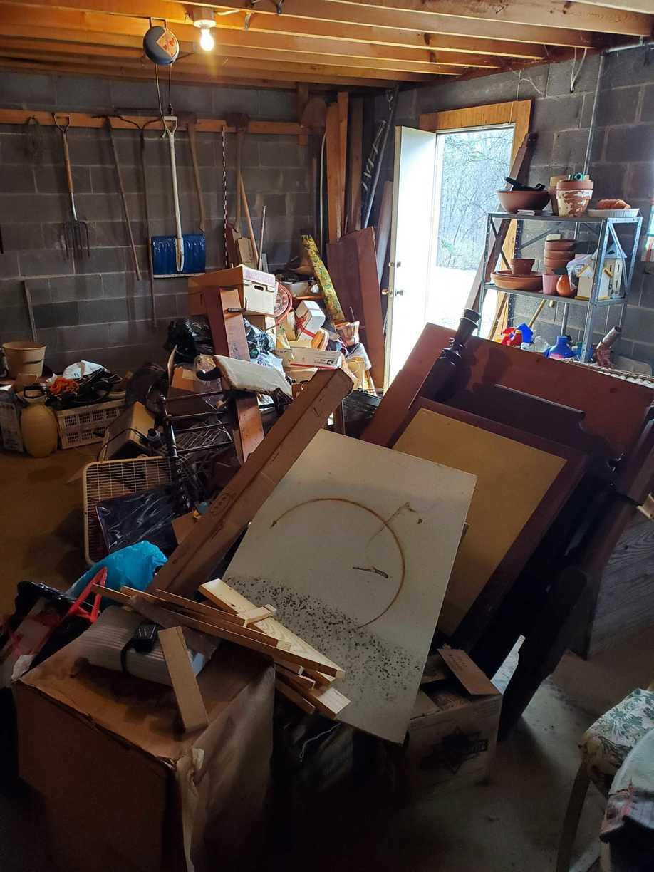 Basement Cleanout in Knoxville, TN - Before Photo