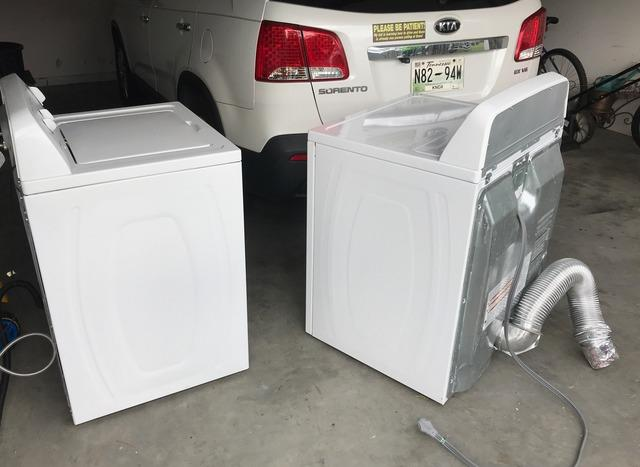 Hauling Away a Washer and Dryer in Knoxville, TN - Before Photo