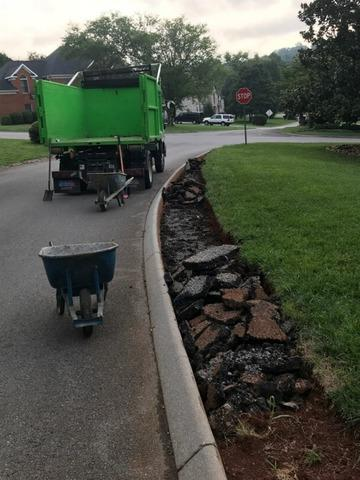 Removing Four Tons of Concrete in Knoxville, TN