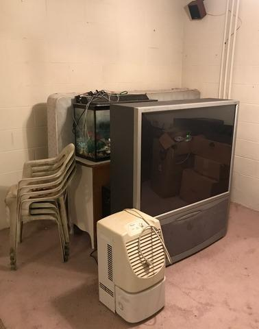 Cleaning Out a Basement and Upgrading a TV in Oak Ridge, TN