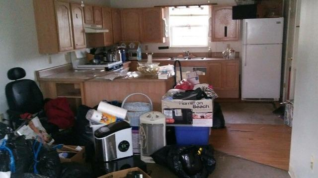 Before and After Cleaning Out an Apartment Near Newport, TN