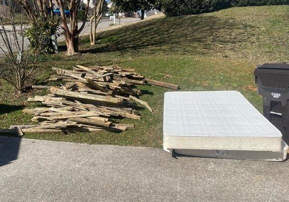 Removing Wood and an Old Mattress Near Strawberry Plains, TN
