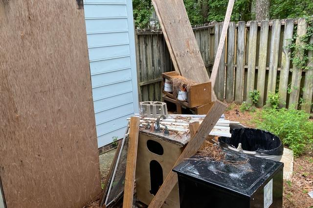 Partial Back-Yard Junk Removal in Wilmington, NC
