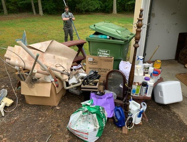 Cleaning Out a Garage in Gloucester, VA - Before Photo