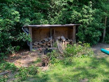 Shed Removal in Williamsburg, VA - Before Photo